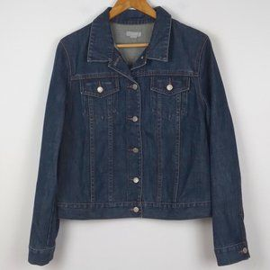 J. Crew Dark Wash Denim 100% Cotton Jean Jacket